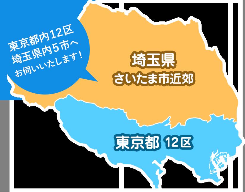 東京都内12区、埼玉県内5市へお伺いいたします!